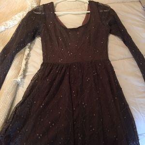 Bella Blue Dark Purple Long sleeve Dress